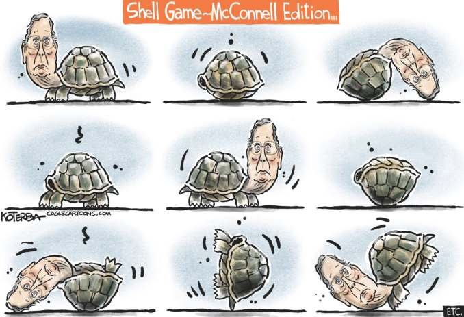 McConnell Shell Game by Jeff Koterba, CagleCartoons.com