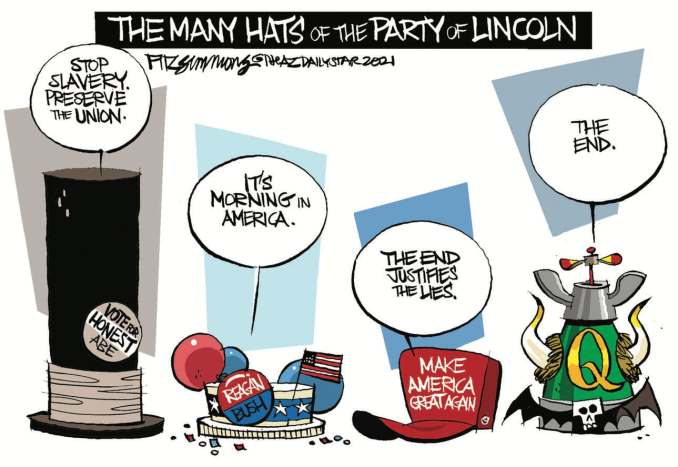 Party Evolution by David Fitzsimmons, The Arizona Star, Tucson, AZ