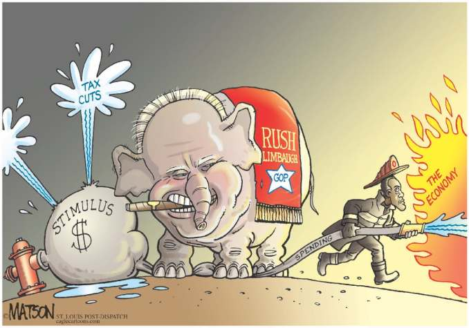 Rush Limbaugh Republicans by R.J. Matson, 2009 CagleCartoons.com