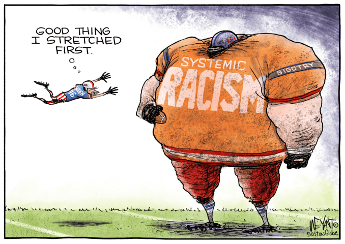 The Big Tackle by Christopher Weyant, The Boston Globe, MA