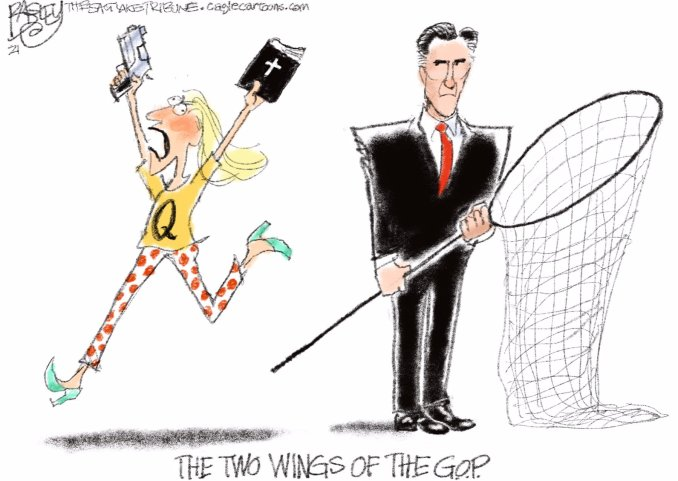 The Two Wings of the GOP by Pat Bagley, The Star Tribune | @Patbagley | CagleCartoons