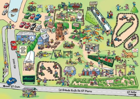 Cartoon Map For AMaizin Theme Park CARTOON STUDIO
