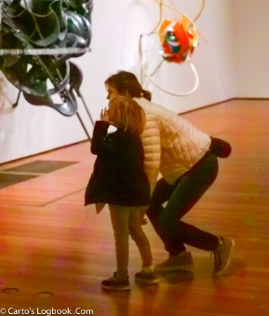 Mother explains Modern Art to her child, de Young Museum, 2016