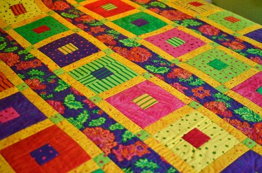 Cotton quilt with fall colors