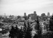 San Francisco Bay Bridge and Financial District, 1954