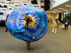 Whirling Dervish performs in Wilsey Court of the De Young Museum, Sumer of Love, 2017