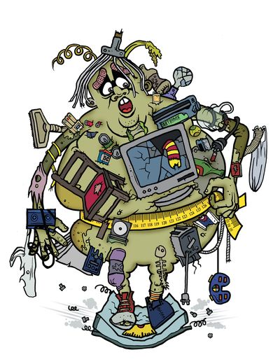 Cartoon Landfill Guy © Planet Ark