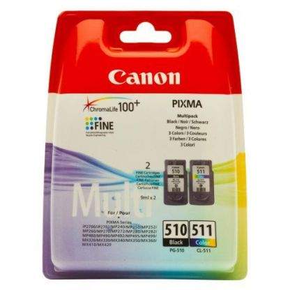 Canon PG-510 CL 511 Printhead multi pack, 220 pages, 9ml, Pack qty 2 1