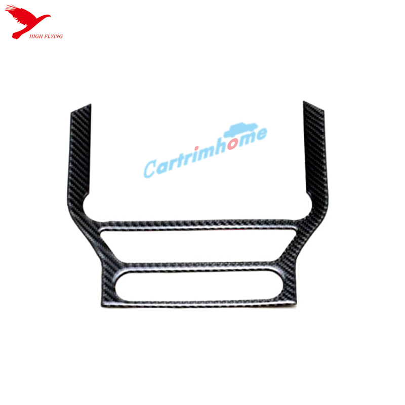 Carbon Fiber Middle Console Panel Cover Trim 1pcs For Ford