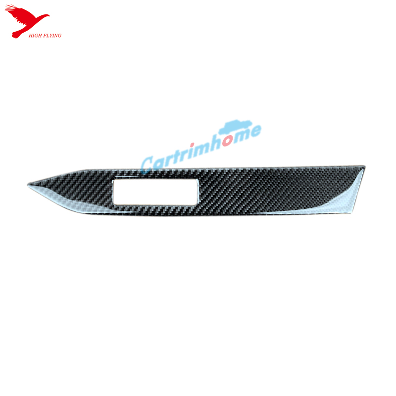 Real Carbon Fiber Interior Middle Control Stripe Cover For