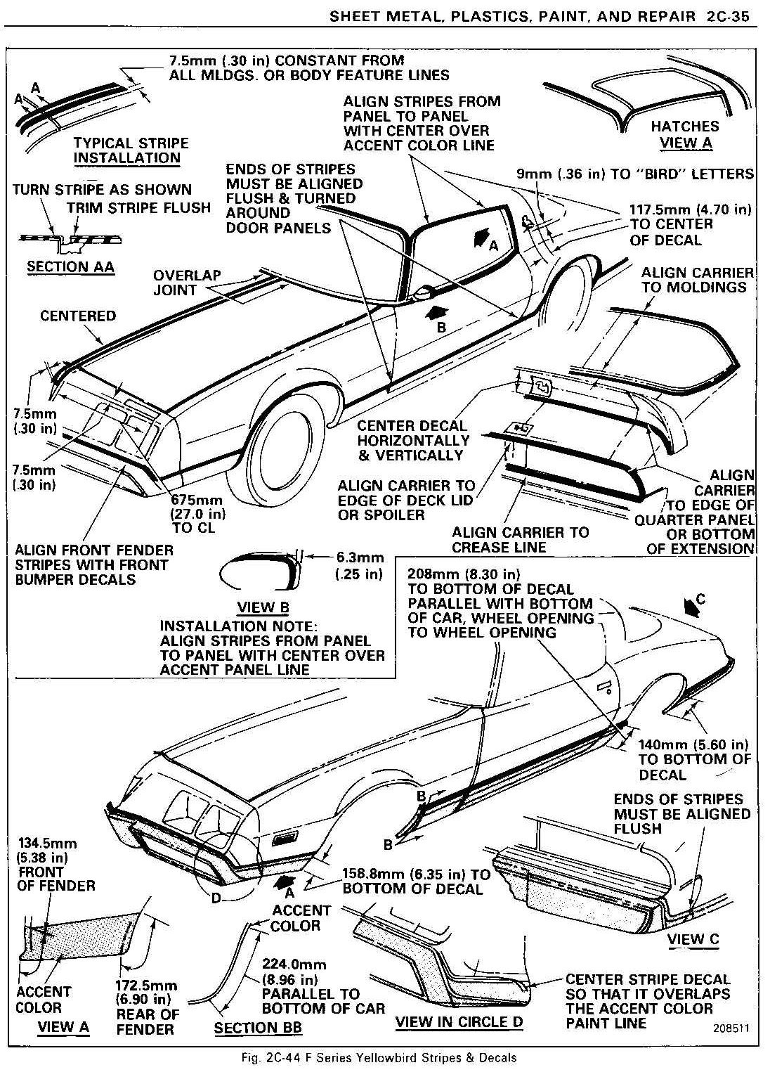 1980 Firebird Esprit Wiring Harness Legend : 42 Wiring