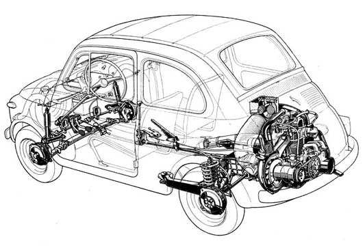 Fiat 500, Engine and Classic on Pinterest