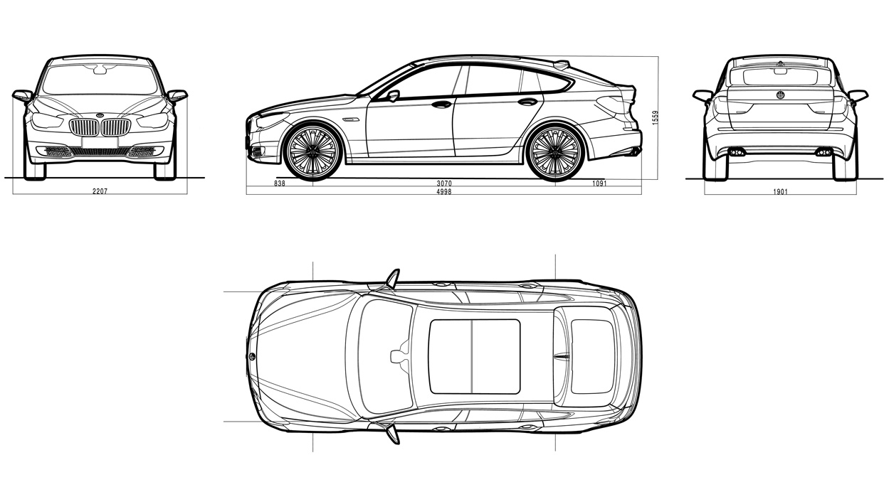 What are the dimensions of a bmw 5 series