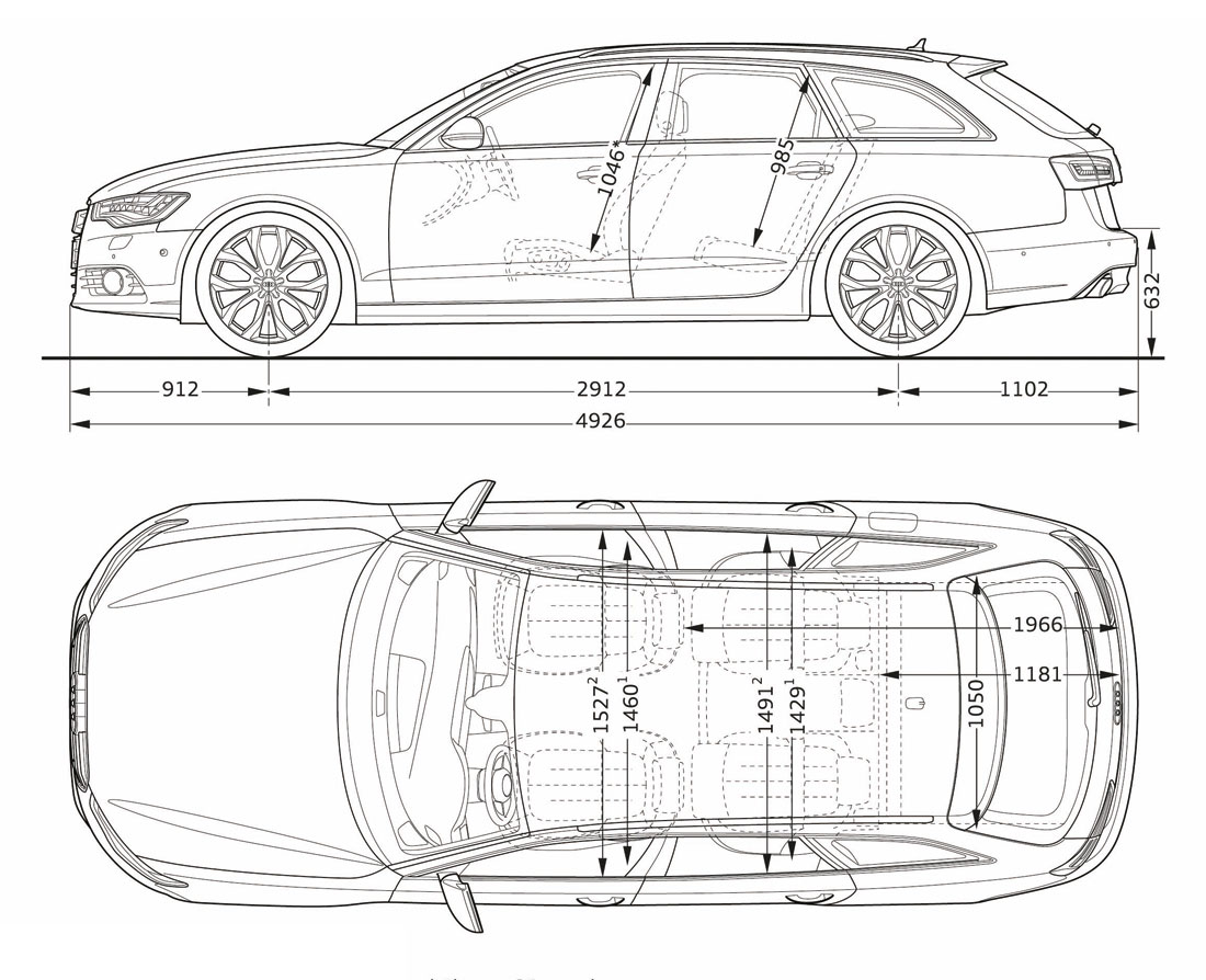 hight resolution of audi a6 avant dimensions side 12