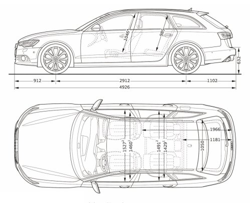 small resolution of audi a6 avant dimensions side 12