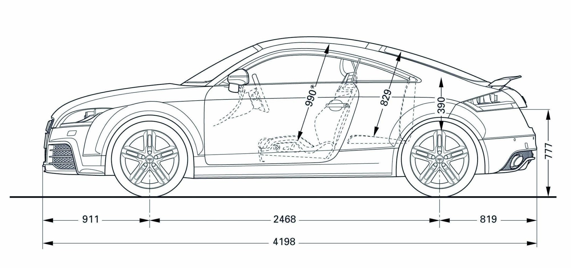 hight resolution of car line art