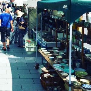 京都五条坂陶器まつりの露店