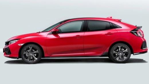 All new 2017 Civic hatchback