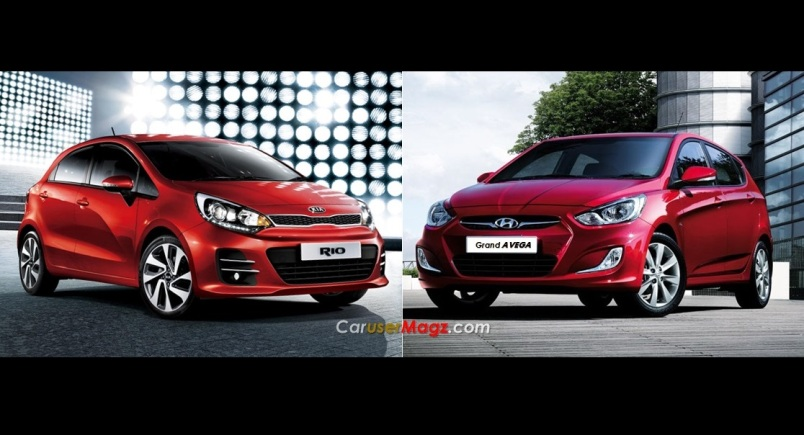 Perbandingan kia rio vs Hyundai grand avega