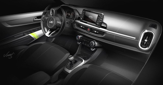 KIA Picanto 2017 official teaser interior