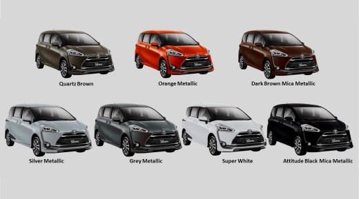 Pilihan warna Toyota Sienta Indonesia