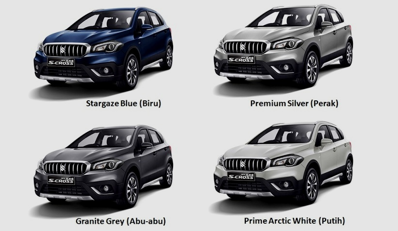 Pilihan Warna Suzuki SX4 S-Cross Facelift 2017 Indonesia