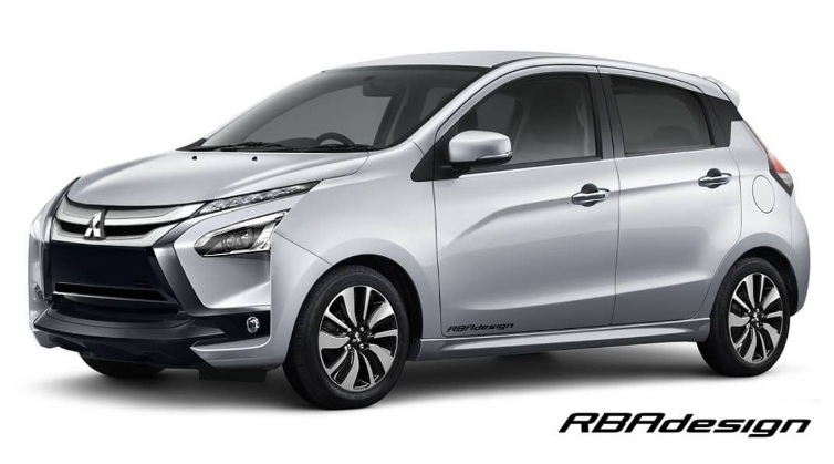 Mitsubishi Mirage by RBAdesign - Front