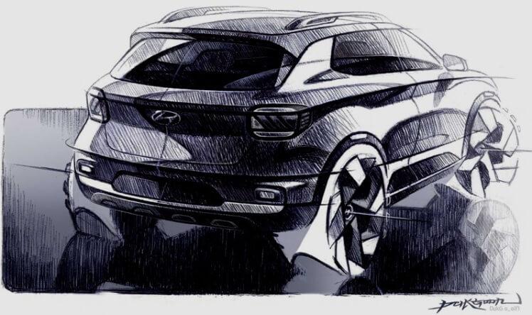 Hyundai Venue SUV - Teaser Eksterior - Rear