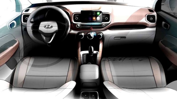 Hyundai Venue SUV - Teaser Interior - Dashboard