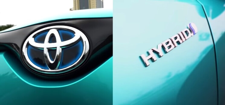 Perbedaan Toyota C-HR Hybrid - Logo dan Emblem
