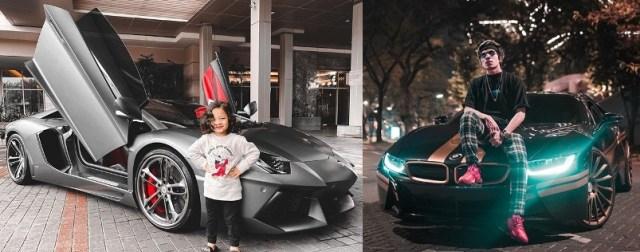 Supercar Artis Indonesia - Lamborghini Aventador & BMW i8 Atta Halilintar