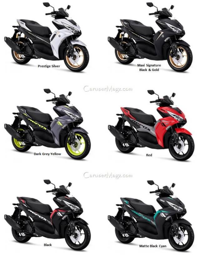 Pilihan Warna Yamaha Aerox 155 Facelift 2021 - Connected VVA