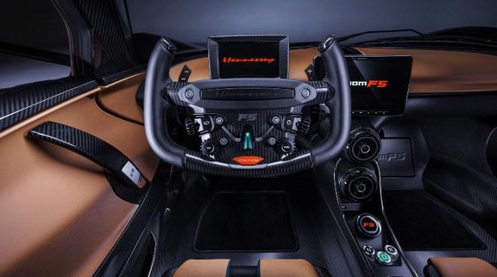 Interior hypercar Hennessey - Dashboard