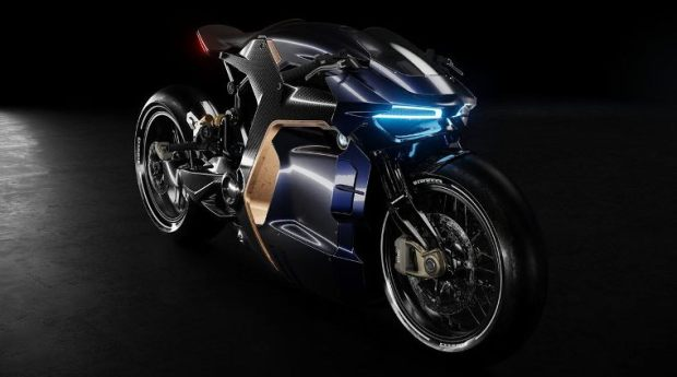 Konsep Motor BMW mirip Terminator Motocyborg