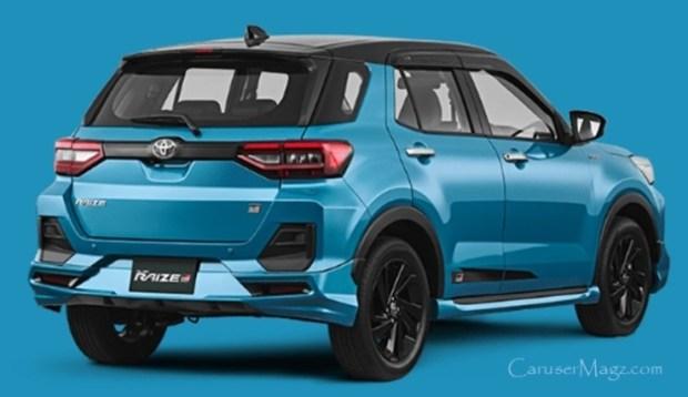 Toyota Raize tampak belakang
