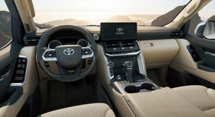 Interior Land Cruiser 2022 Generasi Baru - LC300 Dashboard