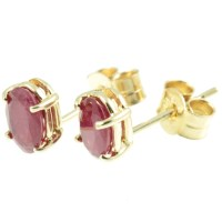 9ct Gold Ruby Stud Earrings - Carus Jewellery