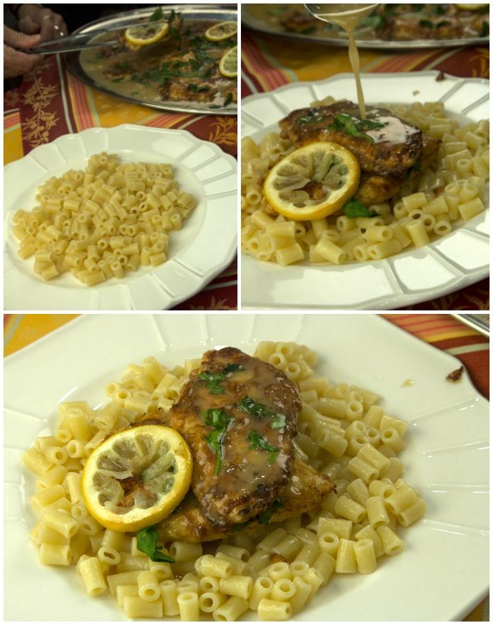 κοτόπουλο Φραντσέζε με σάλτσα λεμόνι, κρασί και βούτυρο