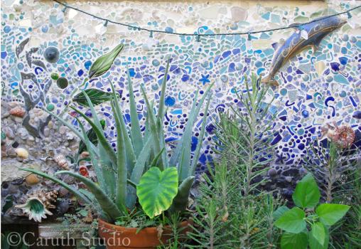 Mosaic sea mural