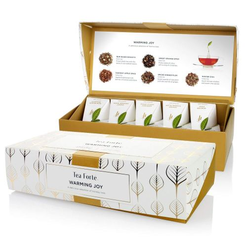 Tea Forté Warming Joy Petite Presentation Box Featuring Seasonal & Festive Tea Blends