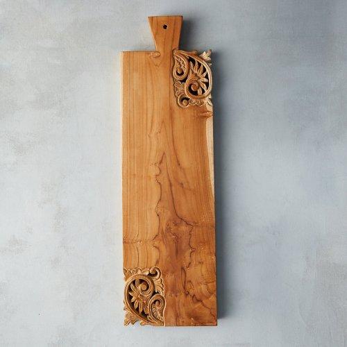 Carved Teak Rectangle Serving Board