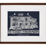 Your House in Navy & White