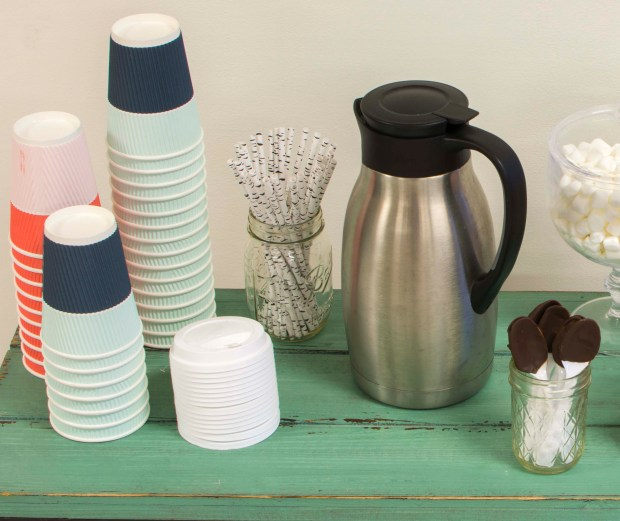cocoa cups and carafe