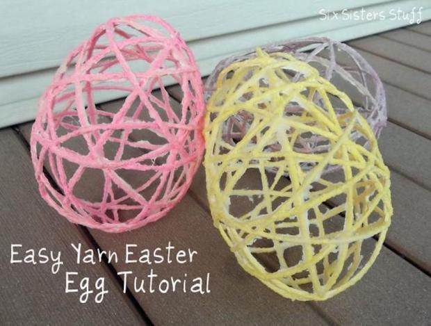 yarn-easter-egg-craft-idea