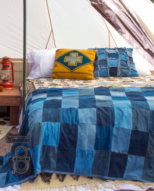 glamping queen bed