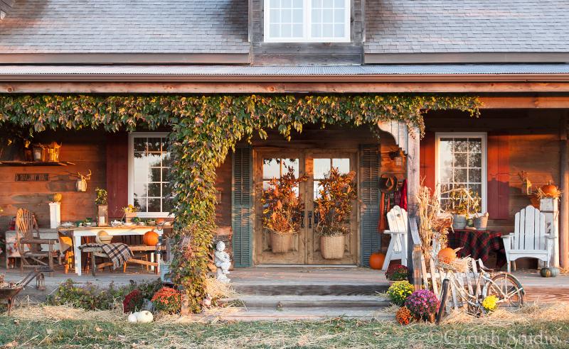 Autumn porch party