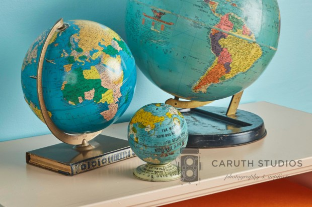 Group of vintage globes
