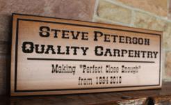 custom business office sign