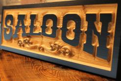 custom saloon sign