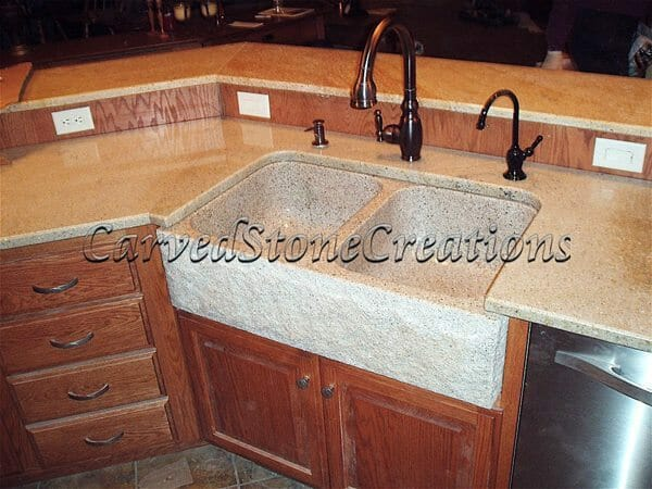 stone kitchen sink modern lights natural vessel sinks and for your home csc